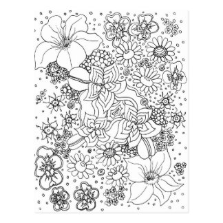 Conglomeration of Flowers Postcard