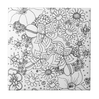 Conglomeration of Flowers Tile