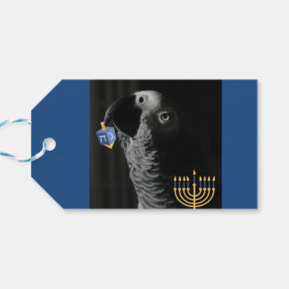 Congo African Grey Hanukkah Pack Of Gift Tags