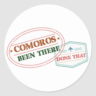 Congo Been There Done That Round Sticker