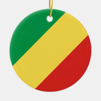 Congo-Brazzaville Flag Ceramic Ornament