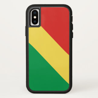 Congo-Brazzaville Flag iPhone X Case