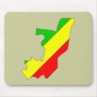 Congo Brazzaville flag map Mouse Pad