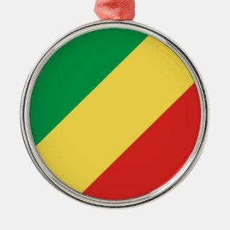Congo-Brazzaville Flag Metal Ornament