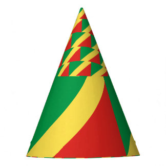 Congo-Brazzaville Flag Party Hat
