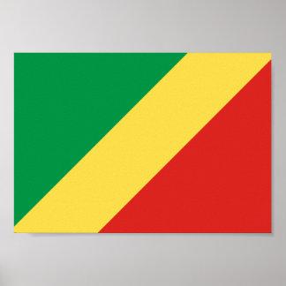 Congo-Brazzaville Flag Poster