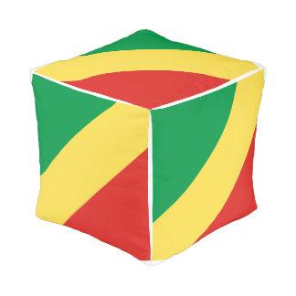 Congo-Brazzaville Flag Pouf