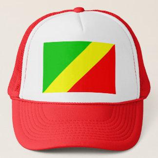 Congo Brazzaville Flag Trucker Hat