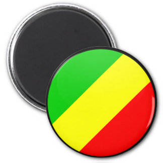 Congo Brazzaville quality Flag Circle Magnet