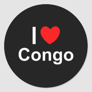 Congo Classic Round Sticker