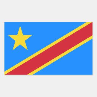 Congo/Congolese Kinshasa Flag. Democratic Republic Sticker