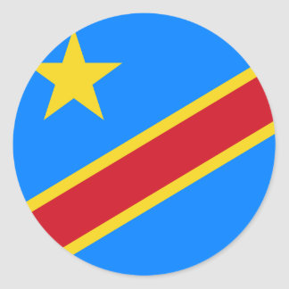 congo democratic classic round sticker