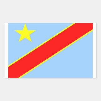 Congo Democratic Flag Sticker