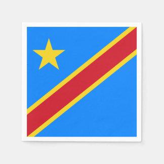 Congo - Democratic Republic of the Congo Flag Disposable Napkins