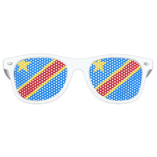 Congo - Democratic Republic of the Congo Flag Retro Sunglasses