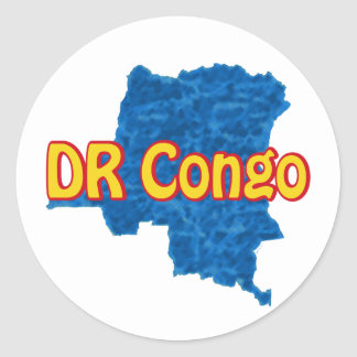 Congo DR Classic Round Sticker