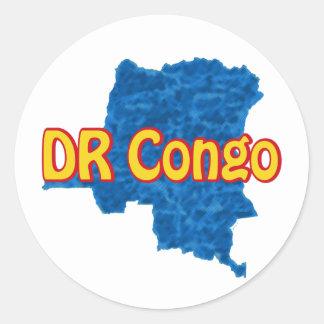 Congo DR Round Sticker