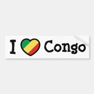 Congo Flag Bumper Sticker