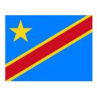 Congo flag CD Postcard