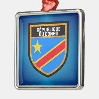 Congo Flag Metal Ornament