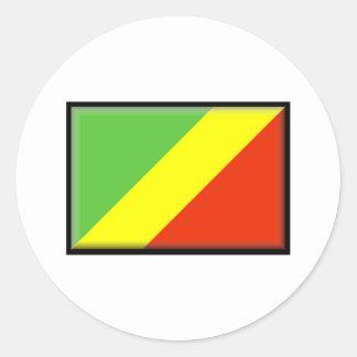 Congo Flag Round Sticker