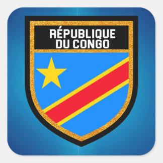 Congo Flag Square Sticker