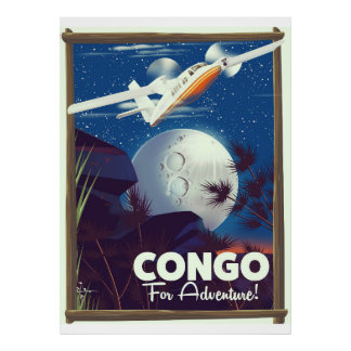 Congo For Adventure! travel poster