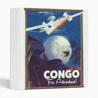 Congo For Adventure! travel poster Binder