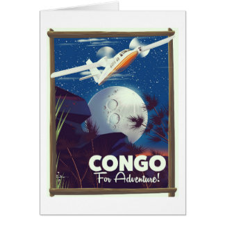 Congo For Adventure! travel poster Card