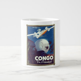 Congo For Adventure! travel poster Large Coffee Mug