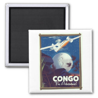 Congo For Adventure! travel poster Magnet