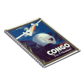Congo For Adventure! travel poster Notebook