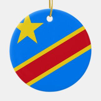 Congo-Kinshasa Flag Ceramic Ornament