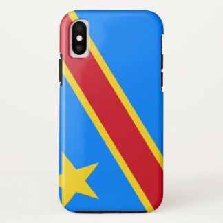 Congo-Kinshasa Flag iPhone X Case