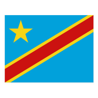 Congo-Kinshasa Flag Postcard