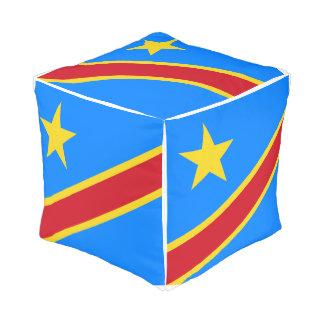 Congo-Kinshasa Flag Pouf