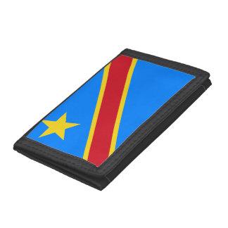 Congo-Kinshasa Flag Trifold Wallet