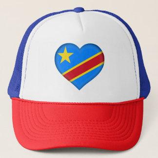 Congo-Kinshasa Flag Trucker Hat