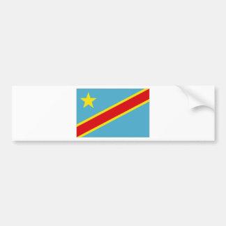 Congo Kinshasa National Flag Bumper Sticker