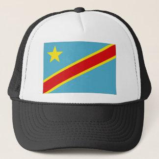 Congo Kinshasa National Flag Trucker Hat