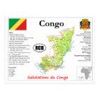 Congo map Postcard