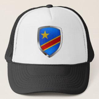 Congo Mettalic Emblem Trucker Hat