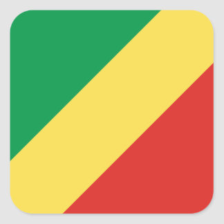 Congo National World Flag Square Sticker