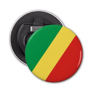Congo - Republic of the Congo Flag Button Bottle Opener