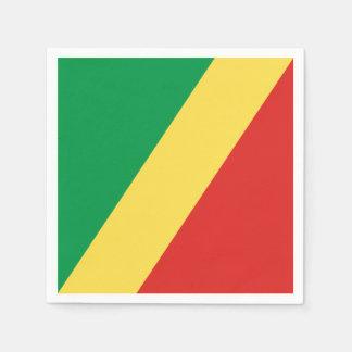 Congo - Republic of the Congo Flag Disposable Napkins