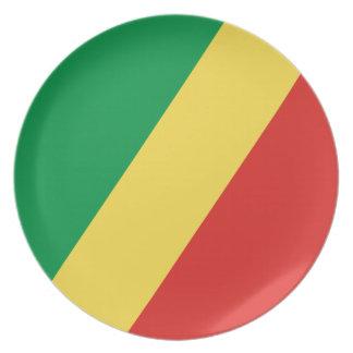 Congo - Republic of the Congo Flag Plates