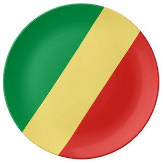 Congo - Republic of the Congo Flag Porcelain Plates