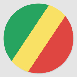 Congo - Republic of the Congo Flag Round Sticker
