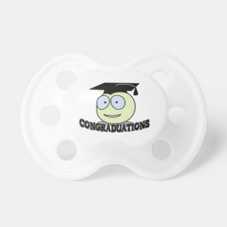 Congraduations Smiley With Grad Cap Pacifier