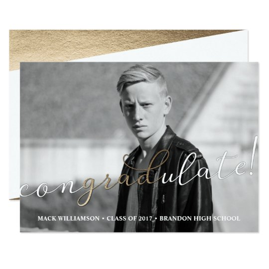 Congradulate Graduation Party Card